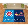 "FANMATS MLB - Chicago Cubs - St. Louis Cardinals House Divided Rugs 33.75""x42.5"""