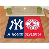 "FANMATS MLB - New York Yankees - MLB - Boston Red Sox House Divided Rugs 33.75""x42.5"""