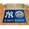 "FANMATS MLB - New York Yankees - MLB - New York Mets House Divided Rugs 33.75""x42.5"""