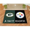 FANMATS NFL - Green Bay Packers/Pittsburgh Steelers House Divided Mat