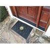 FANMATS Navy Medallion Door Mat