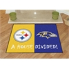 "FANMATS NFL - Pittsburgh Steelers - Baltimore Ravens House Divided Rugs 33.75""x42.5"""
