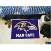 "FANMATS NFL - Baltimore Ravens Man Cave Starter Rug 19""x30"""