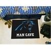 """FANMATS NFL - Carolina Panthers Man Cave Starter Rug 19""""x30"""""""