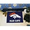 """FANMATS NFL - Denver Broncos Man Cave Starter Rug 19""""x30"""""""