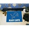 "FANMATS NFL - Detroit Lions Man Cave Starter Rug 19""x30"""