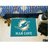 "FANMATS NFL - Miami Dolphins Man Cave Starter Rug 19""x30"""