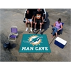 FANMATS NFL - Miami Dolphins Man Cave Tailgater Rug 5'x6'