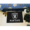 "FANMATS NFL - Oakland Raiders Man Cave Starter Rug 19""x30"""