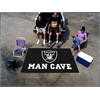 FANMATS NFL - Oakland Raiders Man Cave UltiMat Rug 5'x8'