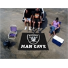 FANMATS NFL - Oakland Raiders Man Cave Tailgater Rug 5'x6'