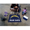 FANMATS NFL - San Diego Chargers Man Cave Tailgater Rug 5'x6'