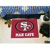 "FANMATS NFL - San Francisco 49ers Man Cave Starter Rug 19""x30"""