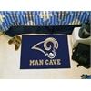 "FANMATS NFL - St. Louis Rams Man Cave Starter Rug 19""x30"""