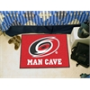 "FANMATS \NHL - Carolina Hurricanes Man Cave Starter Rug 19""x30"""