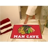 "FANMATS \NHL - Chicago Blackhawks Man Cave All-Star Mat 33.75""x42.5"""