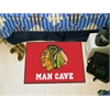 "FANMATS \NHL - Chicago Blackhawks Man Cave Starter Rug 19""x30"""