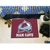 "FANMATS \NHL - Colorado Avalanche Man Cave Starter Rug 19""x30"""