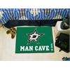 "FANMATS \NHL - Dallas Stars Man Cave Starter Rug 19""x30"""