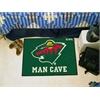 "FANMATS \NHL - Minnesota Wild Man Cave Starter Rug 19""x30"""