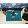"FANMATS \NHL - San Jose Sharks Man Cave Starter Rug 19""x30"""