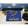 "FANMATS \NHL - St. Louis Blues Man Cave Starter Rug 19""x30"""