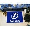 "FANMATS \NHL - Tampa Bay Lightning Man Cave Starter Rug 19""x30"""