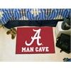 "FANMATS Alabama Man Cave Starter Rug 19""x30"""