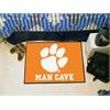 """FANMATS Clemson Man Cave Starter Rug 19""""x30"""""""