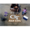 FANMATS Georgia Tech Man Cave Tailgater Rug 5'x6'