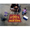 FANMATS Iowa State Man Cave Tailgater Rug 5'x6'