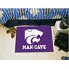 """FANMATS Kansas State Man Cave Starter Rug 19""""x30"""""""