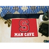 "FANMATS NC State Man Cave Starter Rug 19""x30"""