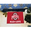 "FANMATS Ohio State Man Cave Starter Rug 19""x30"""