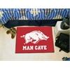 """FANMATS Arkansas Man Cave Starter Rug 19""""x30"""""""