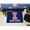"FANMATS Illinois Man Cave Starter Rug 19""x30"""