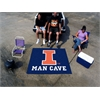FANMATS Illinois Man Cave Tailgater Rug 5'x6'