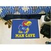 "FANMATS Kansas Man Cave Starter Rug 19""x30"""