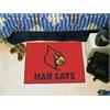 """FANMATS Louisville Man Cave Starter Rug 19""""x30"""""""