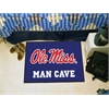 "FANMATS Mississippi - Ole Miss Man Cave Starter Rug 19""x30"""