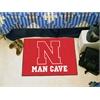 "FANMATS Nebraska Man Cave Starter Rug 19""x30"""