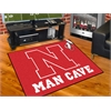 "FANMATS Nebraska Man Cave All-Star Mat 33.75""x42.5"""