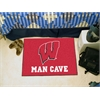 "FANMATS Wisconsin Man Cave Starter Rug 19""x30"""