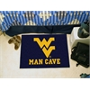 "FANMATS West Virginia Man Cave Starter Rug 19""x30"""