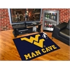 "FANMATS West Virginia Man Cave All-Star Mat 33.75""x42.5"""
