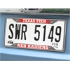"FANMATS Texas Tech License Plate Frame 6.25""x12.25"""