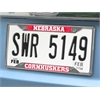 "FANMATS Nebraska License Plate Frame 6.25""x12.25"""