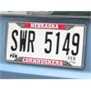 "FANMATS Nebraska License Plate Frame 6.25""x12.25"""