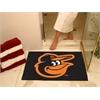 """FANMATS MLB - Baltimore Orioles Cartoon Bird All-Star Mat 33.75""""x42.5"""""""