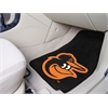 "FANMATS MLB - Baltimore Orioles Cartoon Bird 2-piece Carpeted Car Mats 17""x27"""